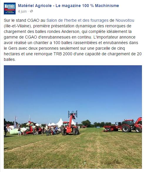 Page facebook- Matériel Agricole
